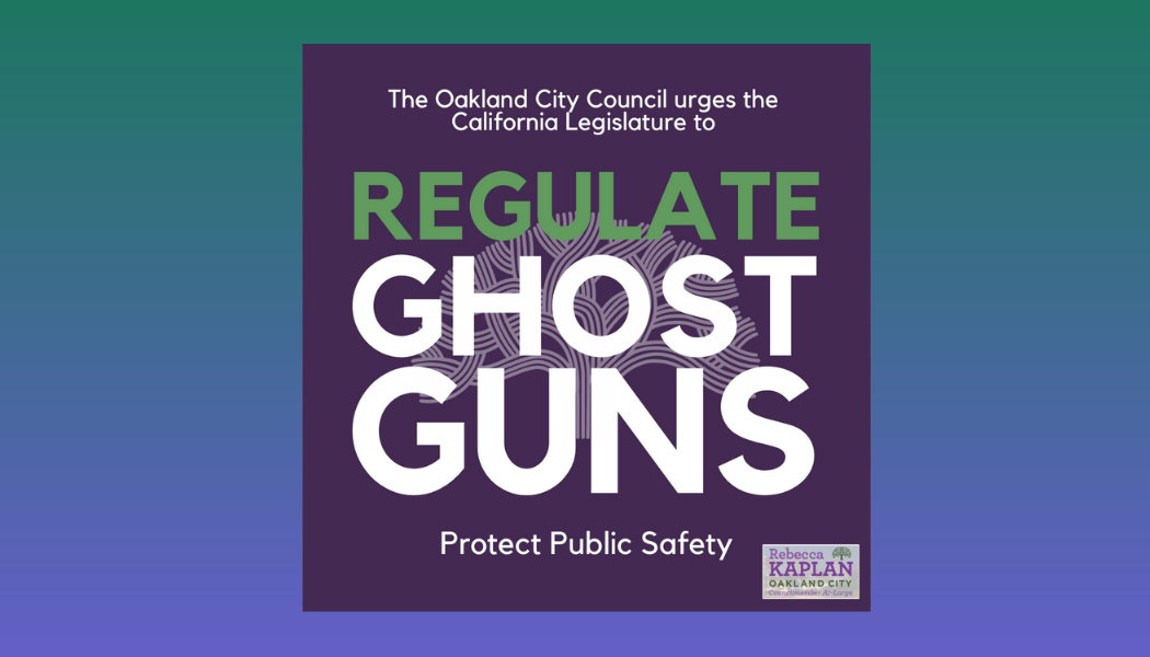 """Graphic that says """"Regulate Ghost Guns"""""""