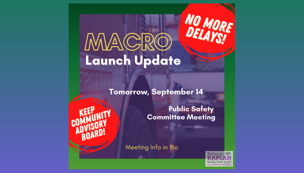 Graphic for Macro Launch Update at Public Safety Committee