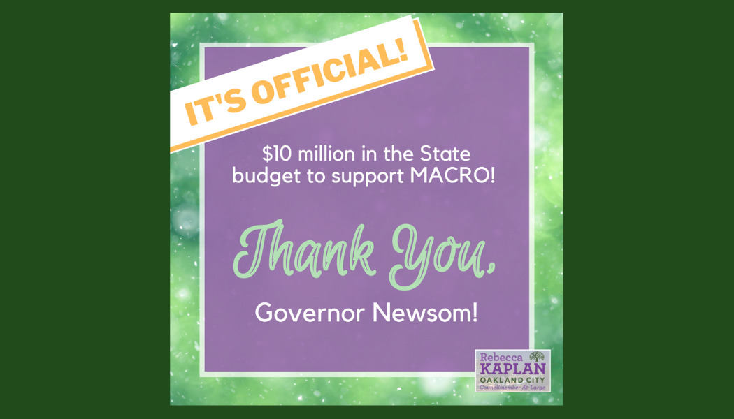 Graphic of a thank you note to Governor Newsom