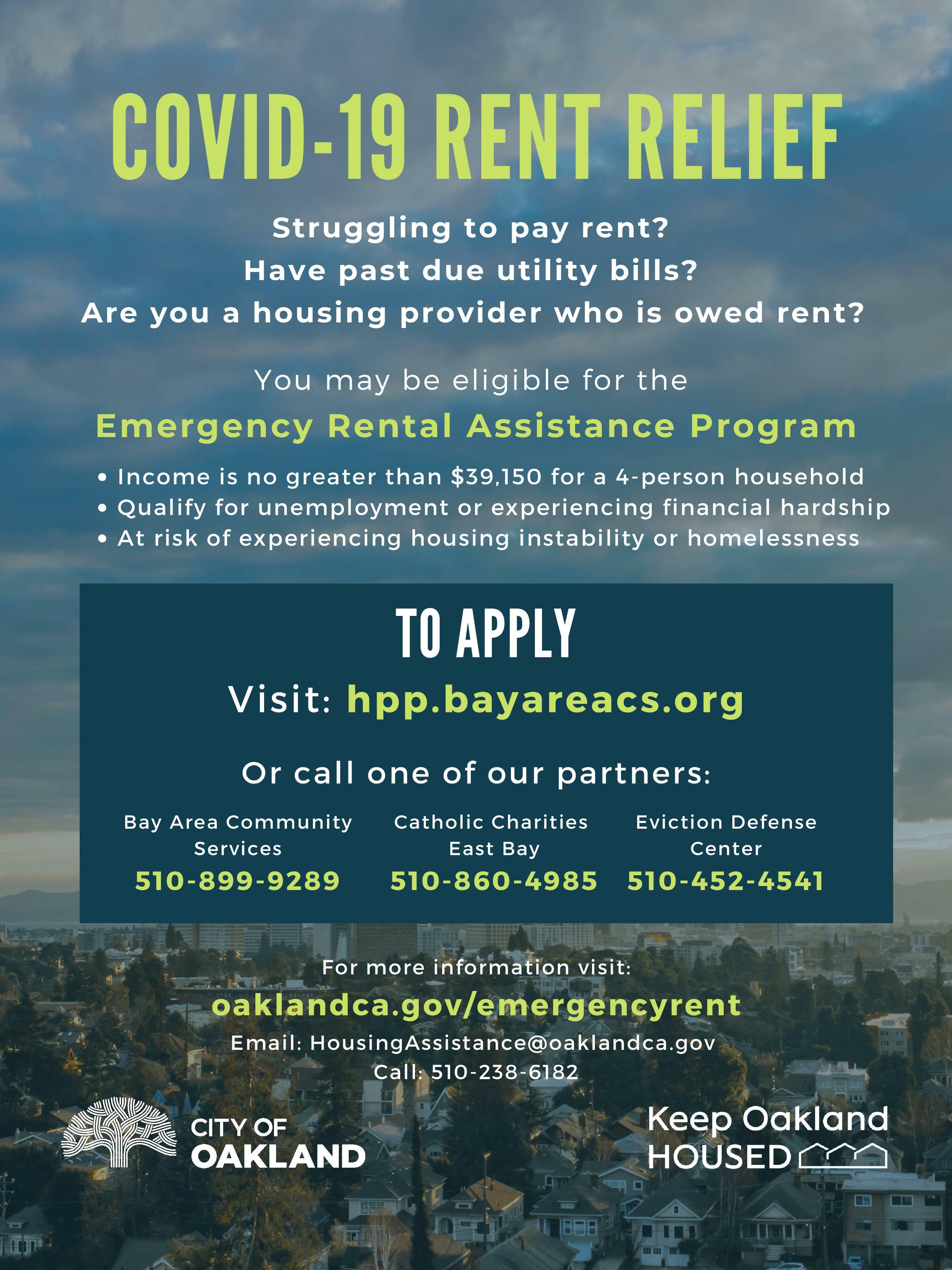 Covid-19 Financial Assistance Flyer