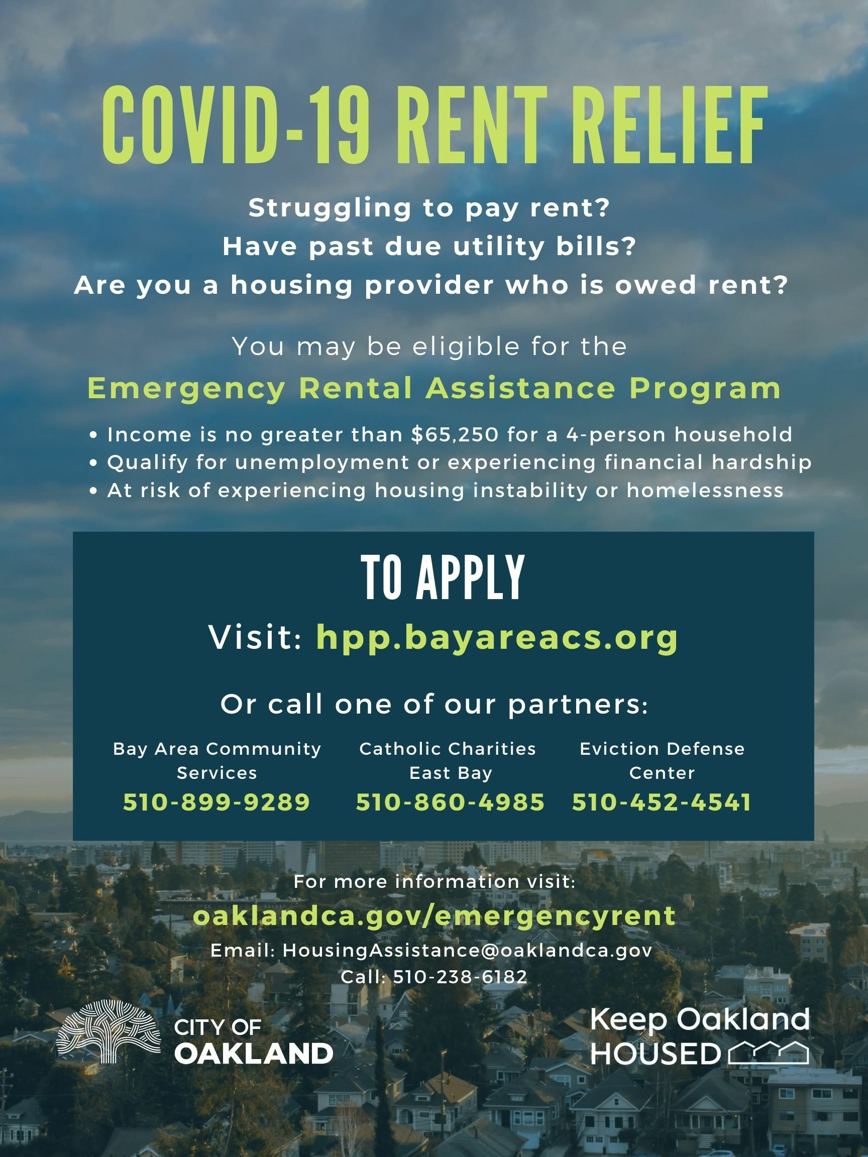 Flyer for Emergency Rent Program