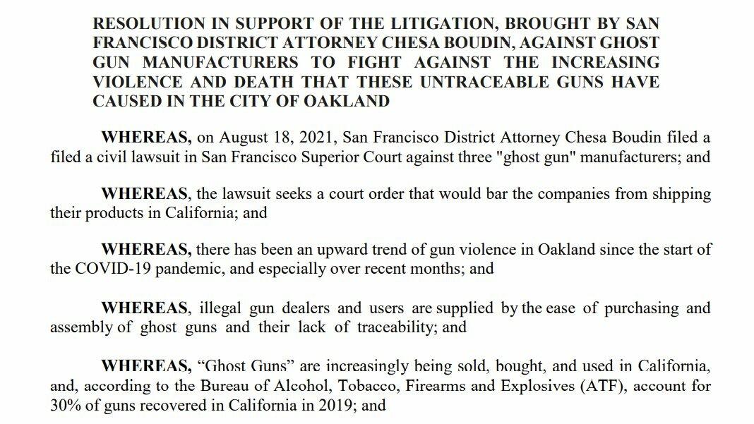 Screenshot of Ghost Gun Resolution text
