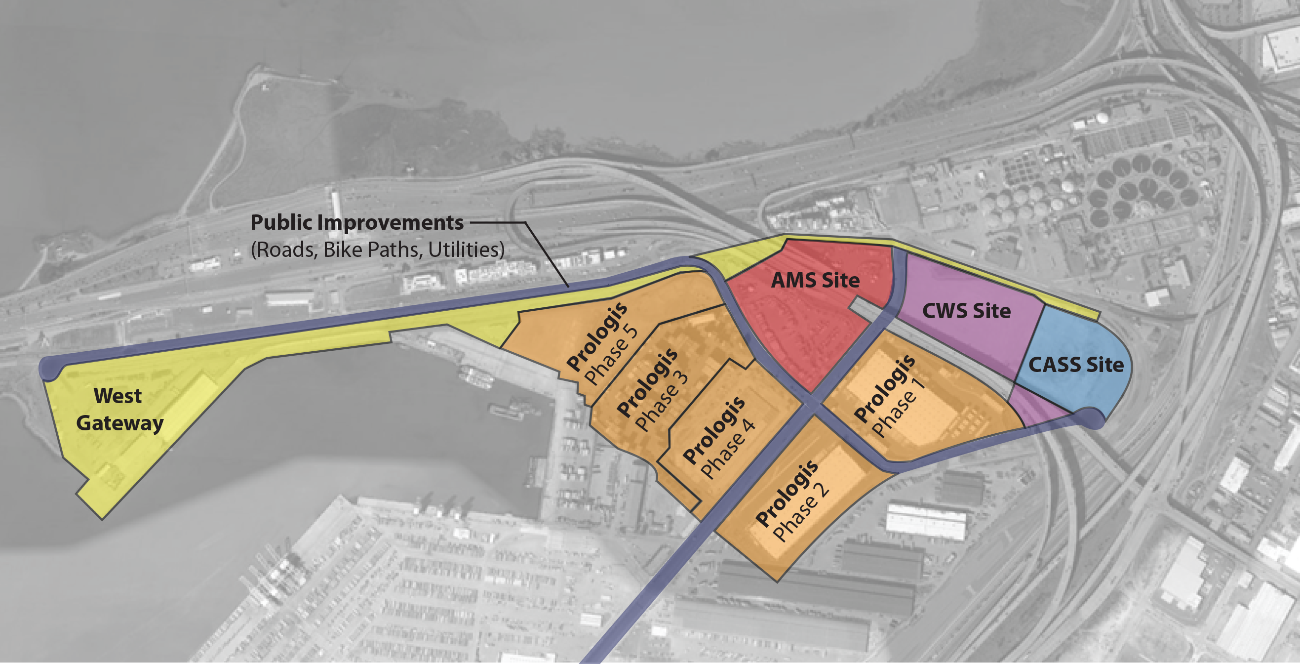 Gateway Industrial District (former Oakland Army Base) Site Plan 2021