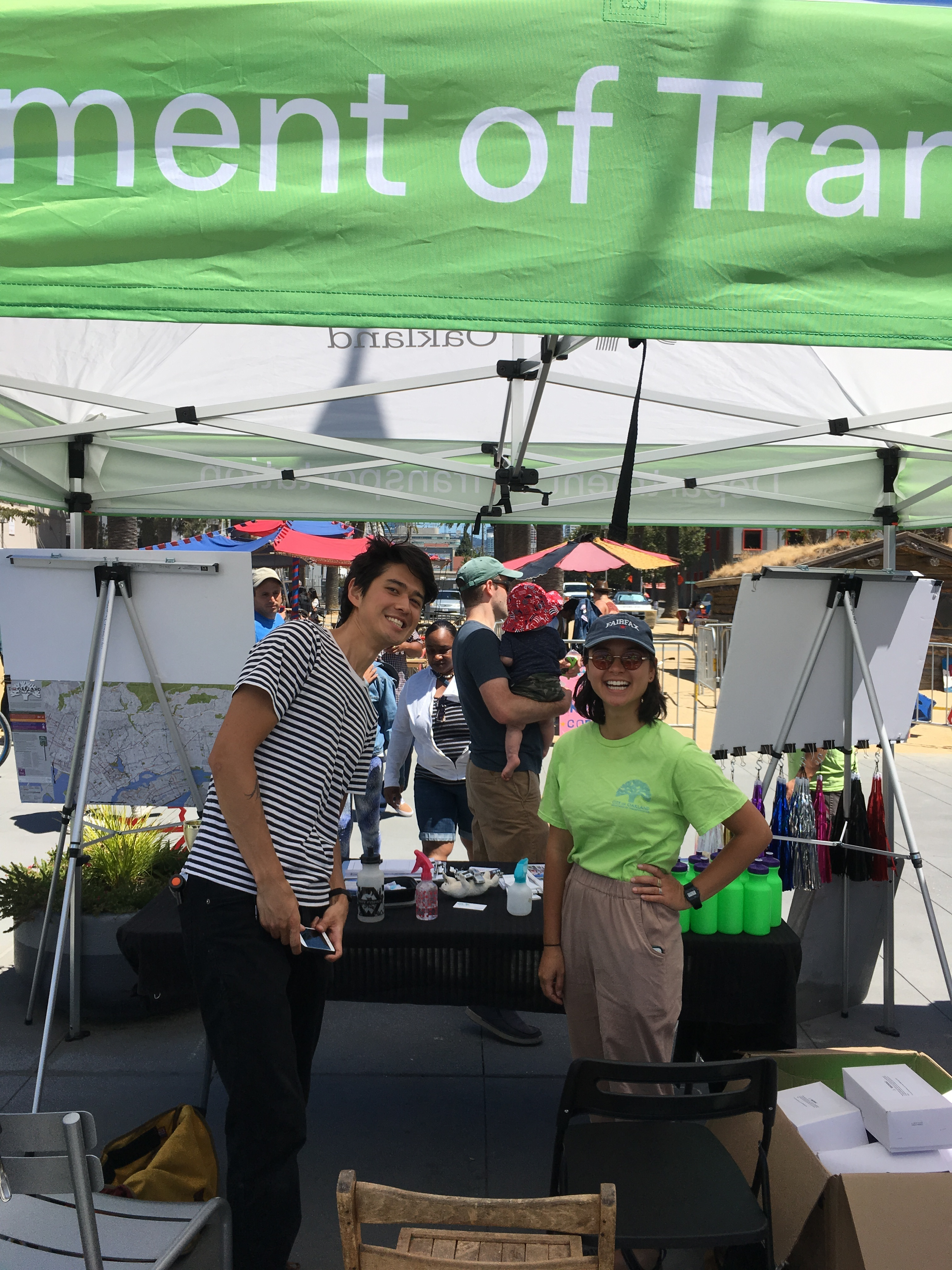 OakDOT interns performing outreach.