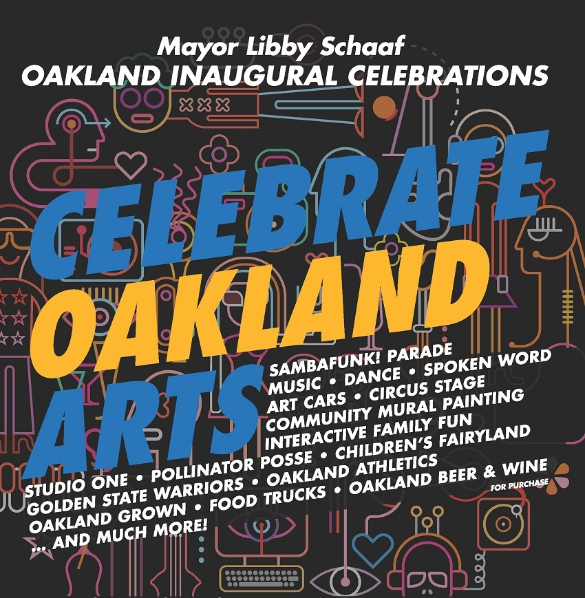 January 12 Celebrate Oakland Arts Poster Website Jpg