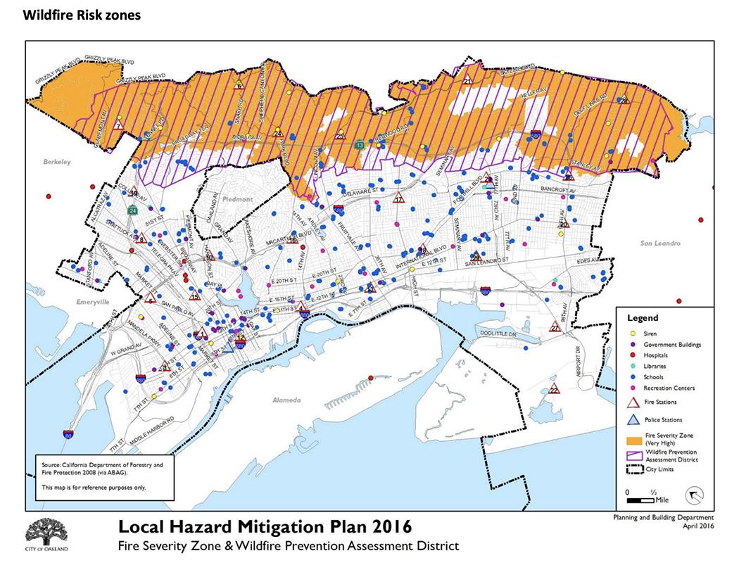 Local Hazard Mitigation Plan 2016 Wildfire Zones