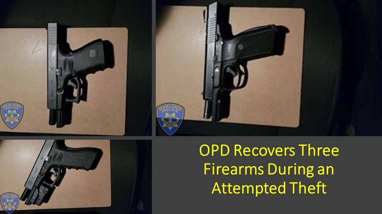 Three Recovered Firearms