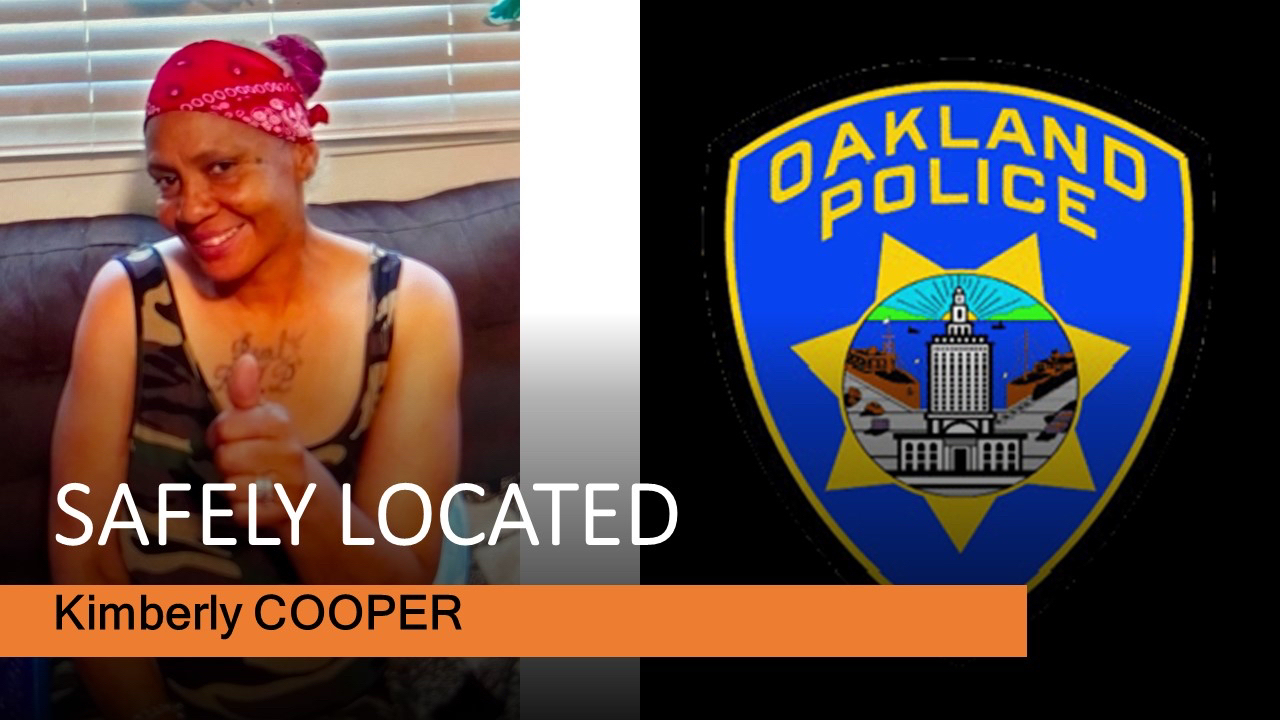 Safely Located Kimberly Cooper and OPD Logo