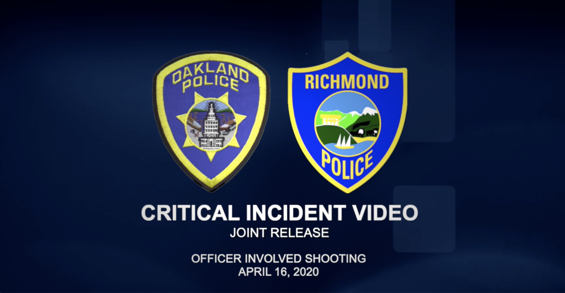 Critical Incident Video