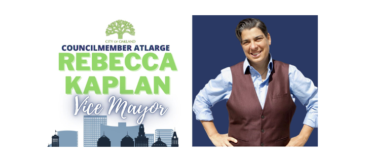 *USE THIS ONE* Graphic of the Vice Mayors logo and a photo of her