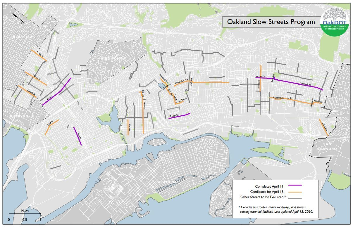 Map of Slow Streets soft closures and proposed expansion