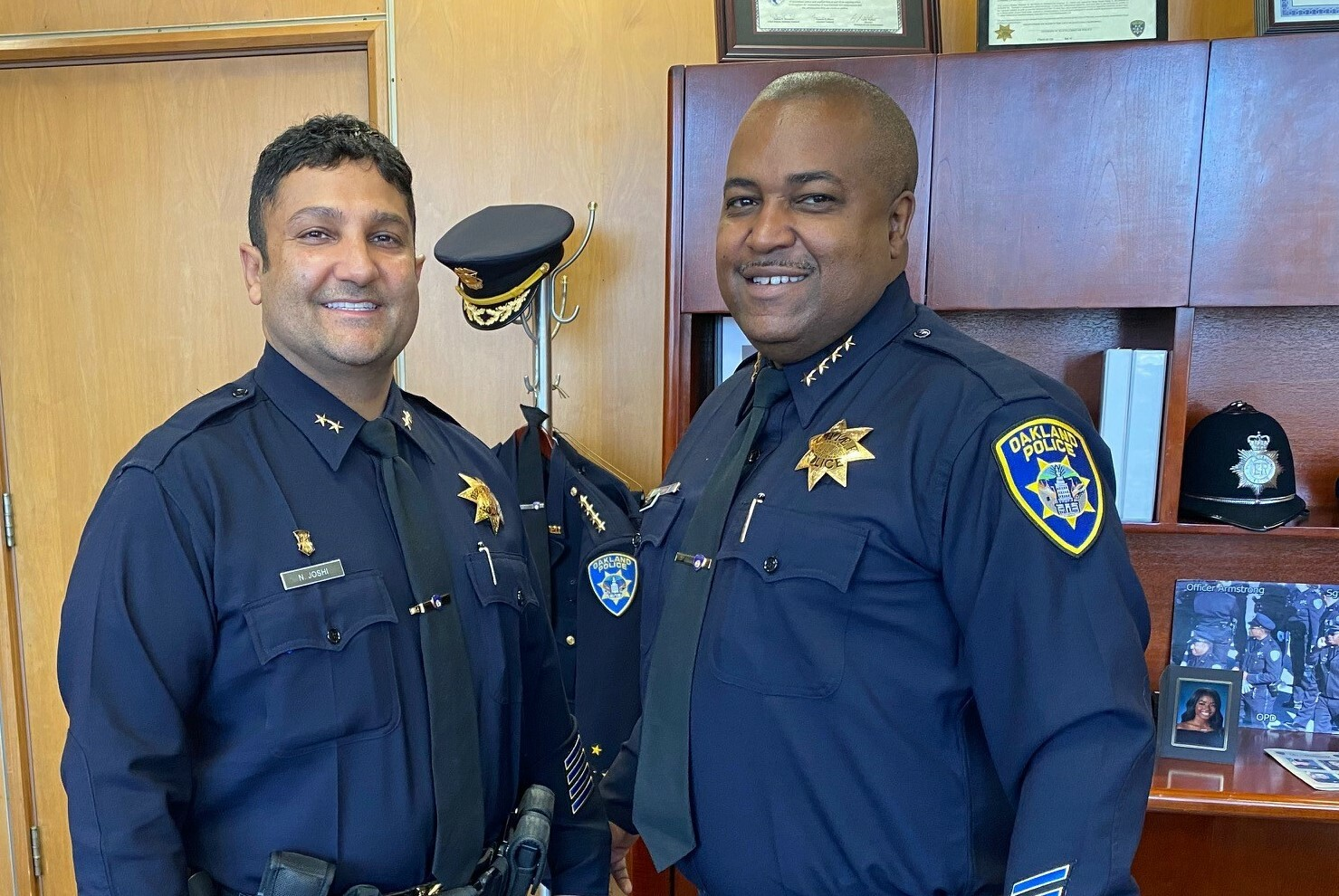 Deputy Chief Nishant Joshi and Chief LeRonne L. Armstrong