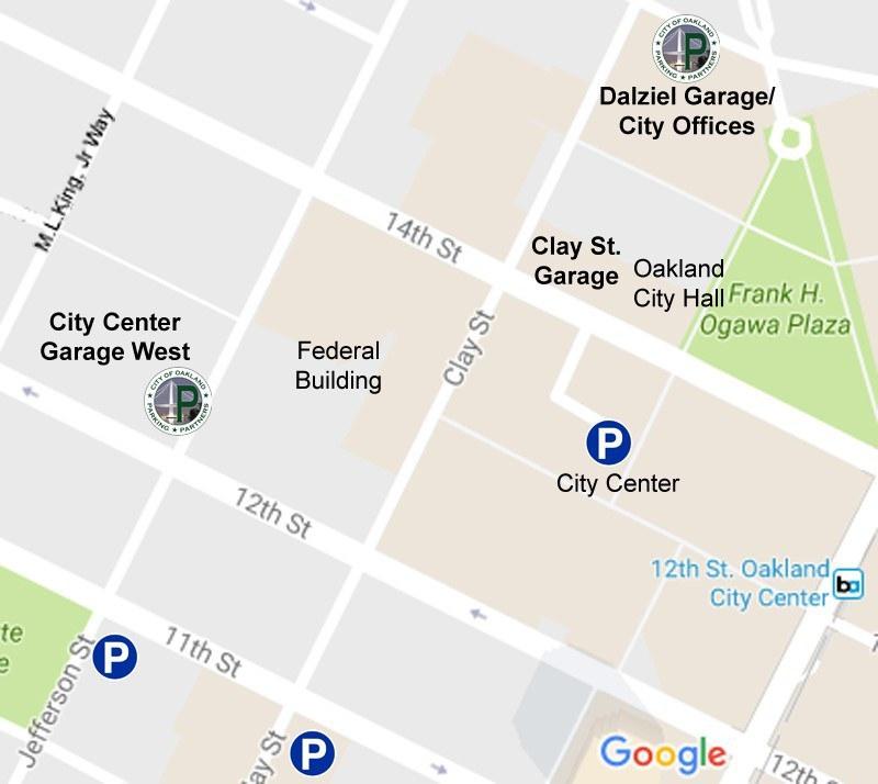 Downtown Garage Map