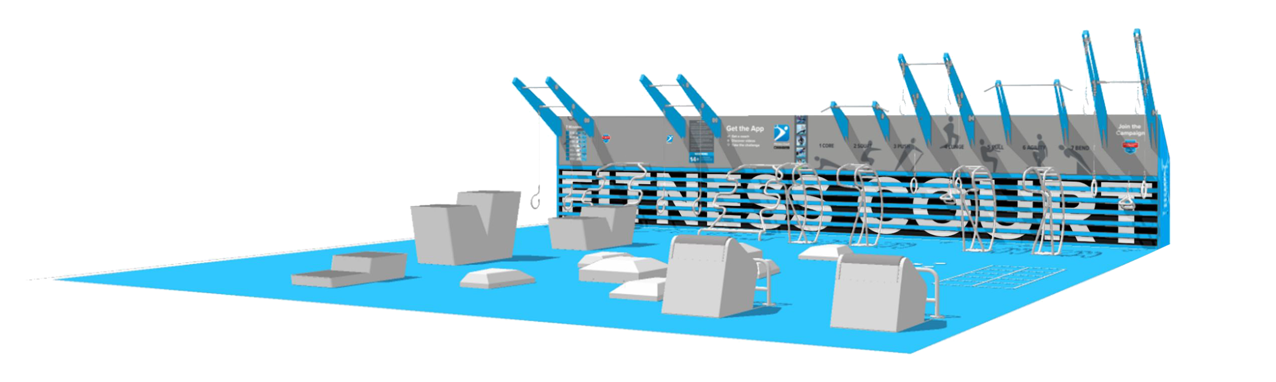 fitness court rendering