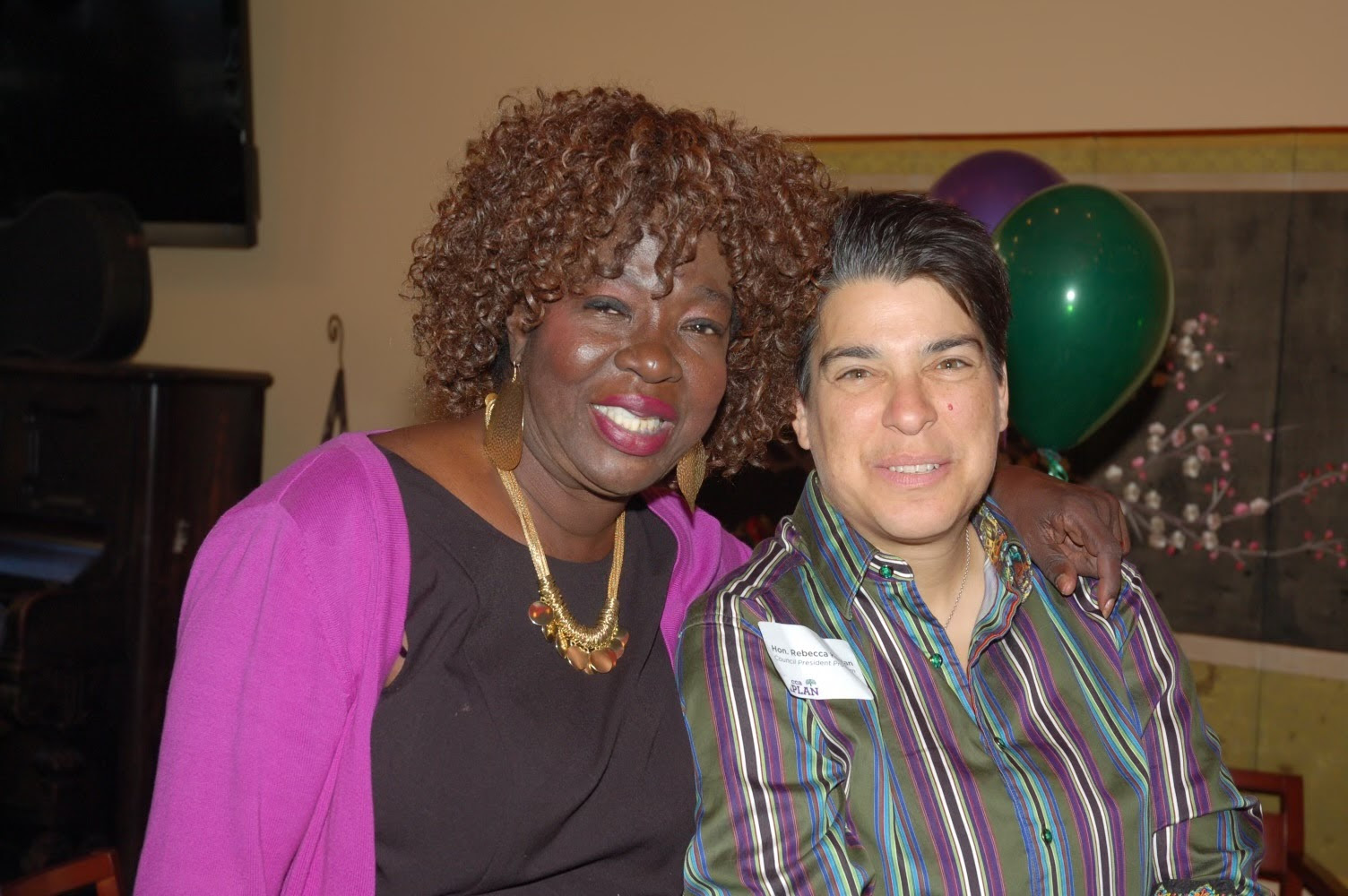 Photo of Vice Mayor Kaplan and the late Dorothy King