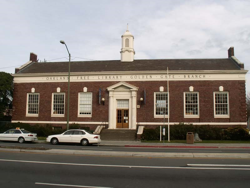 Oakland Designated Landmark 43: Carnegie Libraries Golden Gate Branch (Image A.1) Image