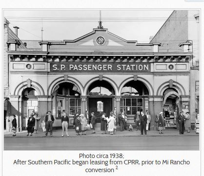 Oakland Designated Landmark 65: Central Pacific Railway Depot Mi Rancho (Image A) Image
