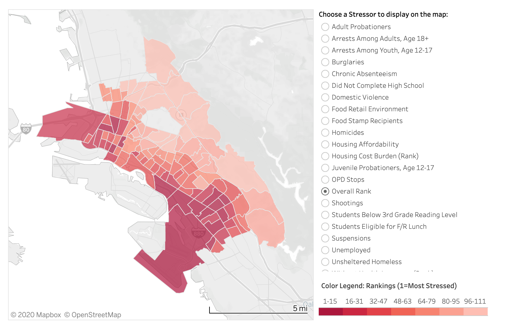 Oakland Community Stressors Index Image